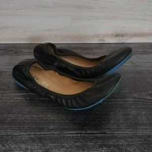 Chelsea Crew Piper Ballet Flats Black Leather 38